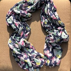 Floral Navy Scarf